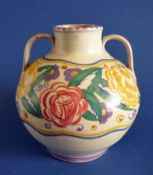Rare Poole Pottery EG Pattern Vase by Truda Carter c1930